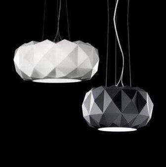 Verre pendentif éclairage Moderne Simple moderne lampes suspendues de Coupe De Diamant De Placage Décoratif luminaire suspendu pour restaurant