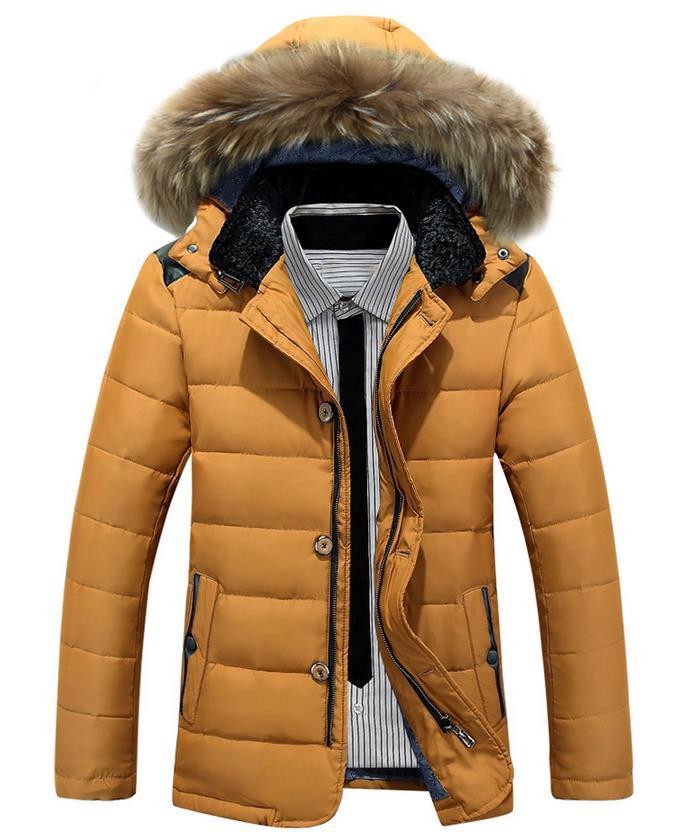 2017 New Autumn Winter Fashion Men's Casual Detachable Hooded Mens Padded Coat Trend Down Jacket For Male Winter Clothes