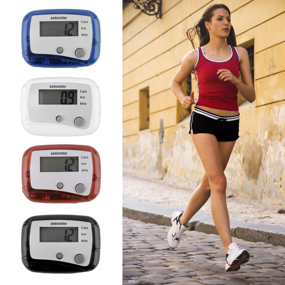 Lightweight Pedometer Belt Clip Easy Use Mini Digital LCD Run Step Pedometer Walking Distance Counter ABS Gym Calorie Tracker