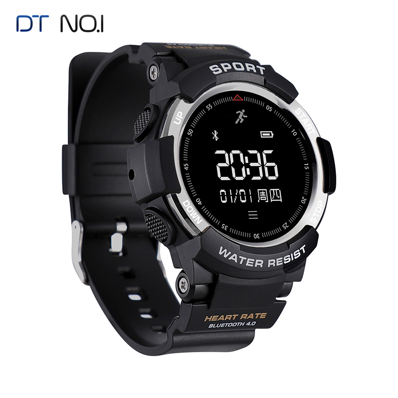 2018 NO.1 F6 GPS NO.1 F6 GPS Smart Watch IP68 Waterproof Heart rate Sleep Monitor Pedometer Sports tracker Bluetooth Smartwatch no 1 g6 eu us bluetooth 4 0 heart rate monitor smart watch black