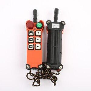 Image 4 - 2 transmitter 1 Receiver F21 E1 emergency stop mushroom head crane driving hoist industrial wireless remote control 24V 36V 220V
