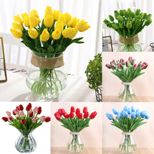 1 Pcs beauty Real touch flowers latex Tulips flower Artificial Bouquet Fake bridal bouquet decorate for wedding