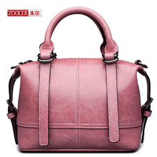 ZOOLER New 2016 arrival Genuine leather handbags woman fashion bags top quality mini-bags  classic black crossbody bags#D-2350