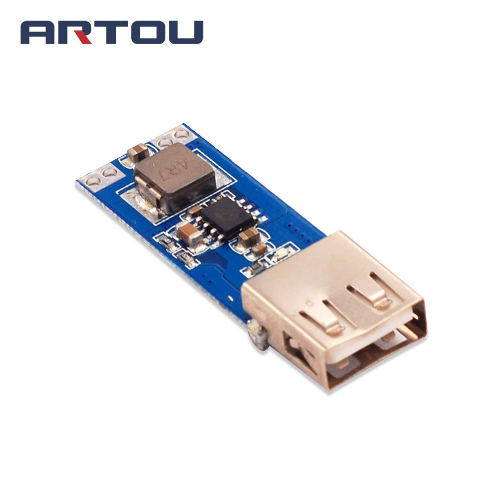 1PCS DC-DC Boost Module 3V3.3V3.7V4.2V to 5V1A2A USB Mobile Power Charging Treasure Boost Circuit Board