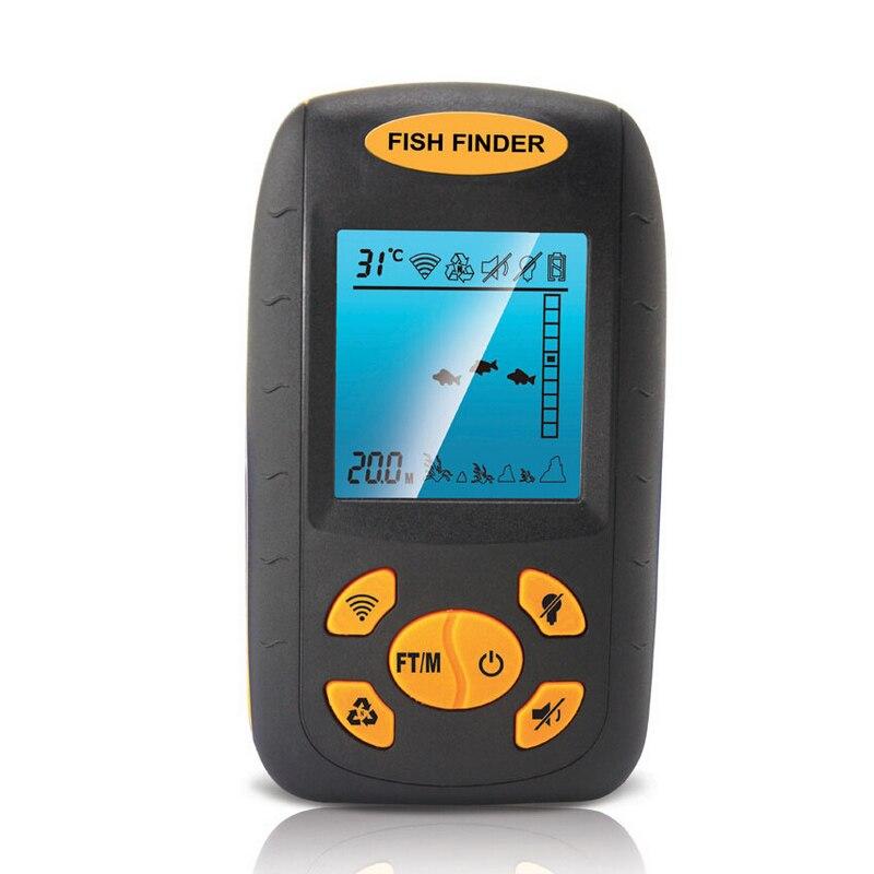 Sonar Portable sans fil détecteur de poisson LCD lecteur alarme de profondeur caméra sous-marine sonde de profondeur plus profonde 100 M matériel de pêche électronique