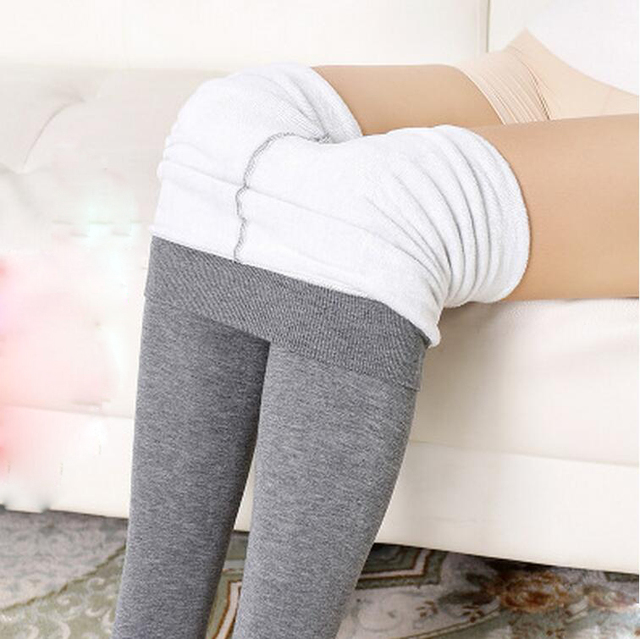 2016 New Fashion Winter Women Leggings Warm Clothes Foot Pants with Velvet leggings Thicken High Elasticity