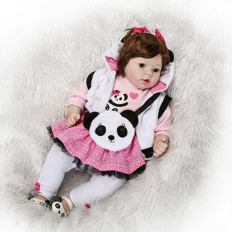 """NPK 20 """"Девочка Кукла Возрожденный силикон винил дети игровой дом игрушки bebe подарок boneca Возрожденный силикон Возрожденные куклы"""