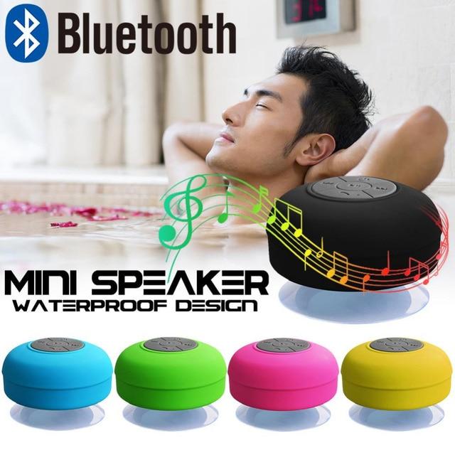 Impermeable Altavoz Bluetooth inalámbrico de baño Mini de moda de instrumentos musicales con copa de succión Dropship 8,28