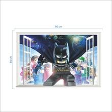 Lego Batman Super Heros Windows Wall Stickers