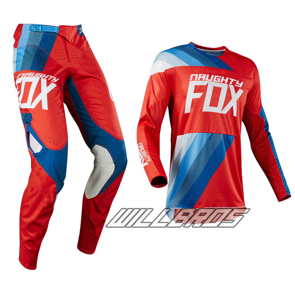 Naughty Fox 2018 360 Pant & Jersey Racing Riding Gear Combo Dirtbike/Motocross/Mx Red Jersey & Pant red fox палатка challenger 4 combo 4600 св беж ss17
