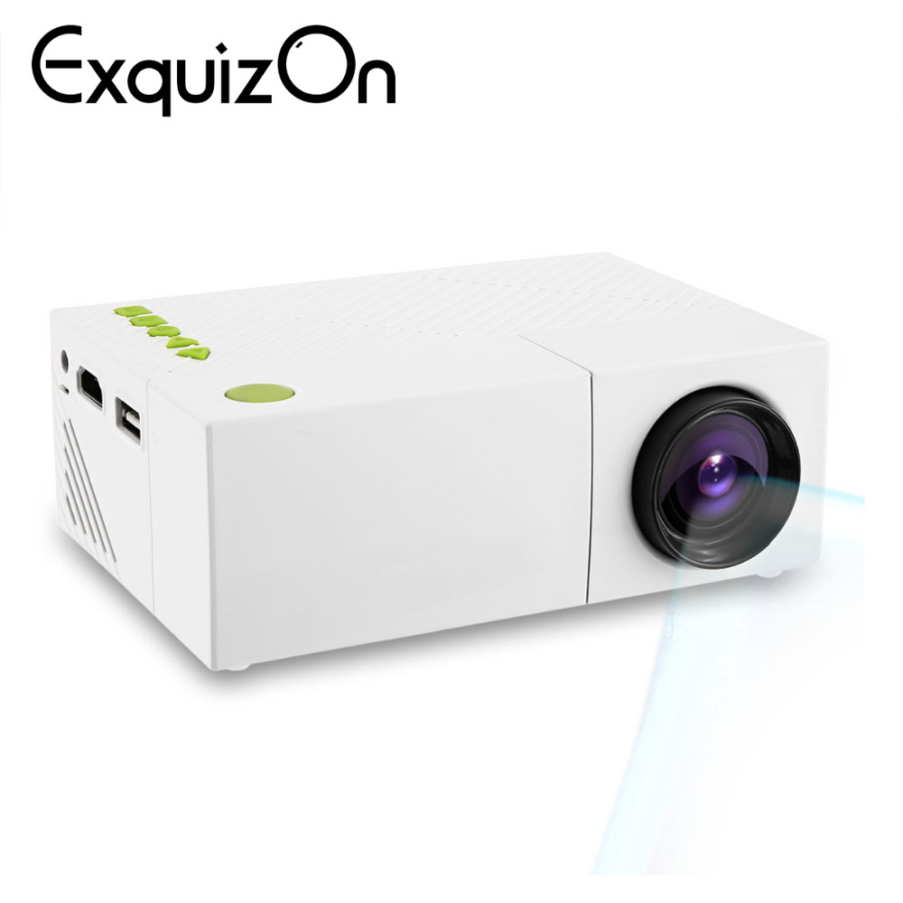 Exquizon Portable Projector Video YG300 Mini 600lumen 1080P LED Home AV 320x240 HDMI