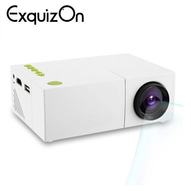 Exquizon YG310 cập nhật YG300 ĐÈN LED Di Chiếu HD 600 Lumen 320x240 1080 P AV USB HDMI Video LED mini Phương Tiện Truyền Thông Nhà Máy Nghe Nhạc