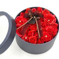 יום ולנטיין רוז פרח הסימולציה קופסא מתנת חג אהבת פרח סבון לחתונה עיצוב מתנת יום הולדת הווה היום של אמא 25