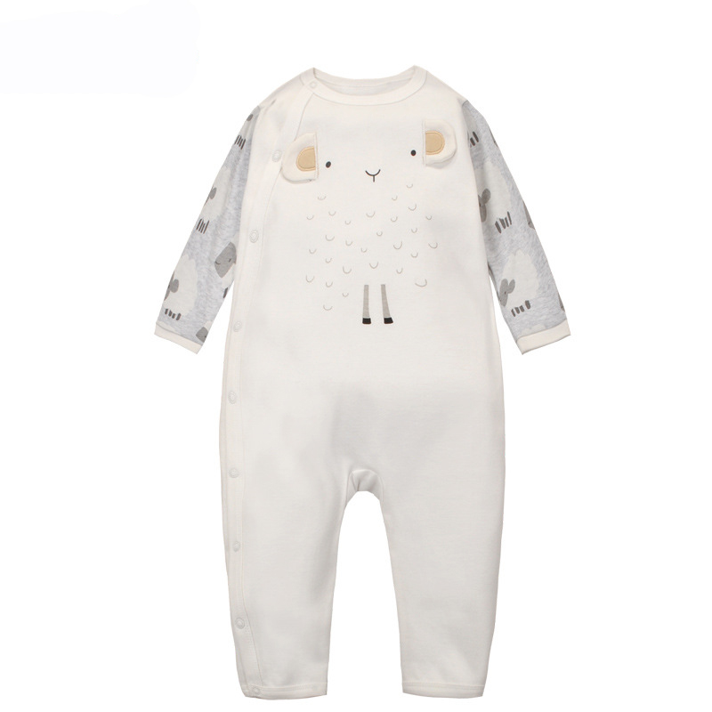 Baby Boys Girls   Romper   Cotton Cute Cartoon Sheep Newborn Infant Long Sleeve Jumpsuits Spring Autumn Soft One-Piece Clothing