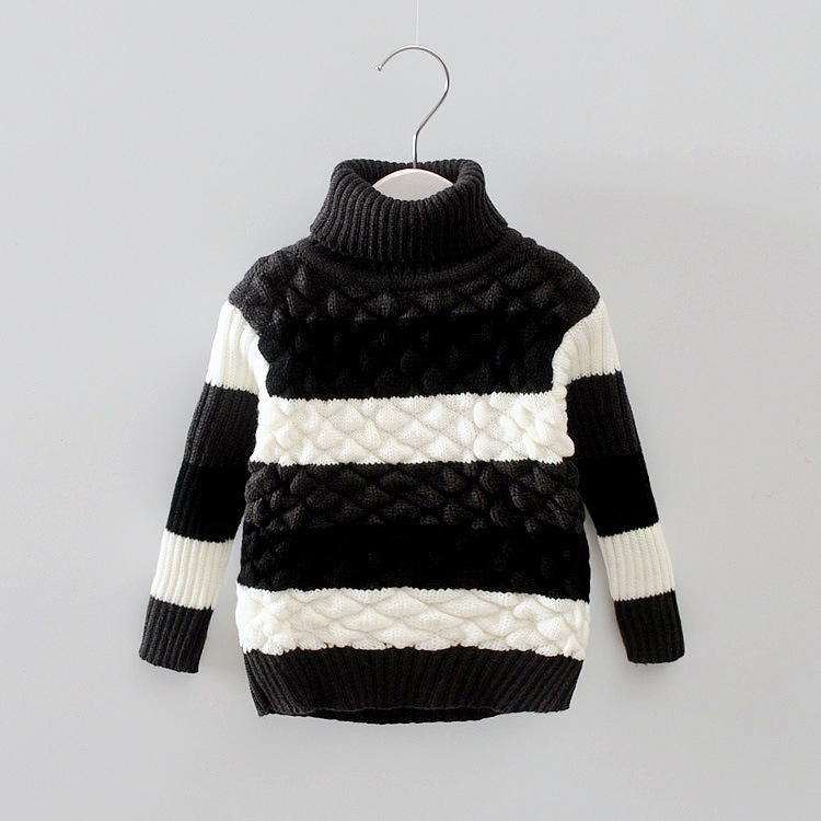 Autumn-Winter-Baby-Girls-Boys-Cotton-Striped-Long-Sleeve-Turtleneck-knitting-Sweaters-Tops-3