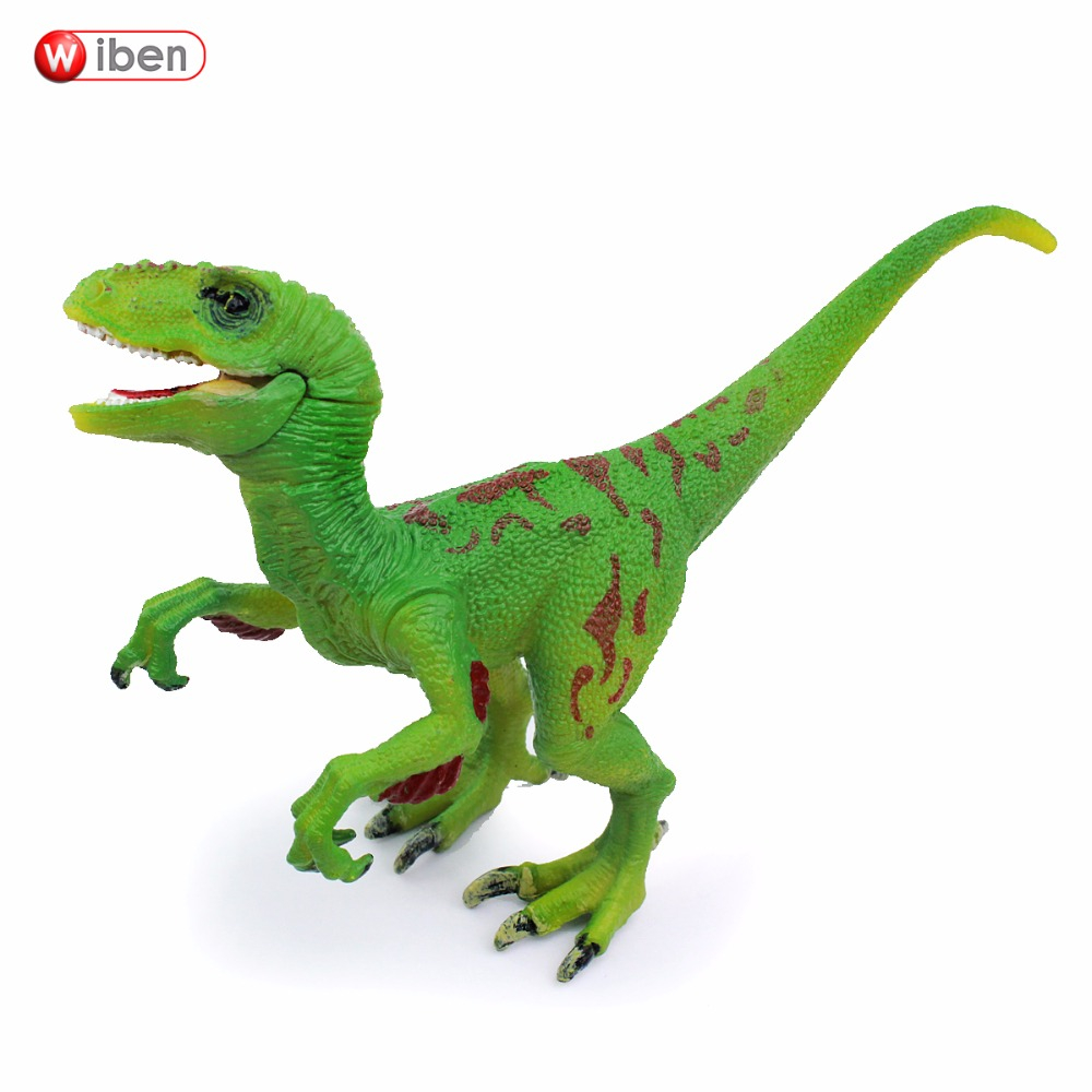 Wiben Jurassic Velociraptor Dinosaur Action & Toy Figures Animal Model Collection Learning & Educational Kids Christmas Gift easyway sea life gray shark great white shark simulation animal model action figures toys educational collection gift for kids