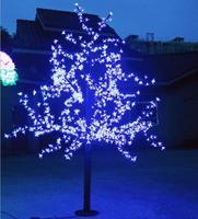 1.5 Mètres 576LED bule/blanc/rose/vert/rouge/jaune de noël intérieur cherry blossom arbre de noël lumières Europ livraison gratuite