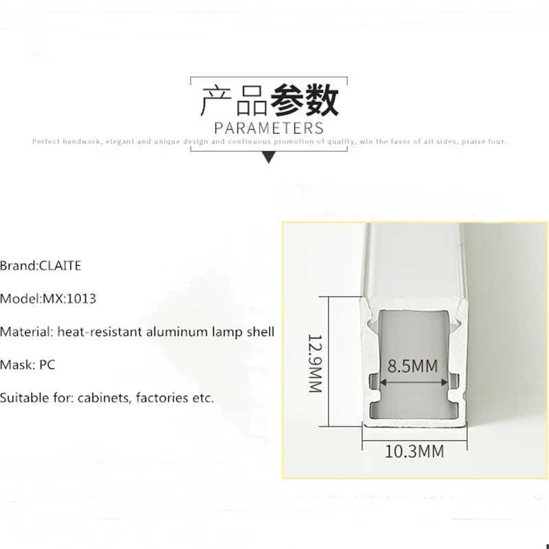 CLAITE 50 см Новый U алюминиевый профиль для светодиодной ленты светодиодный полосатый свет для бара комнатный светильник кухонные люстры 10 мм в ширину