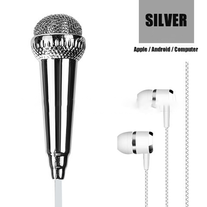 Image 5 - for iPhone Android All Smartphone Notebook Portable Mini Microphone Stereo Karaoke Sound Record 3.5mm Plug-in Microphones from Consumer Electronics