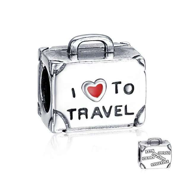 1cc974c1659 New Arrivals 925 Sterling Silver Travel Suitcase Charm Beads Fit European  Soufeel and Pandora Charms Bracelet