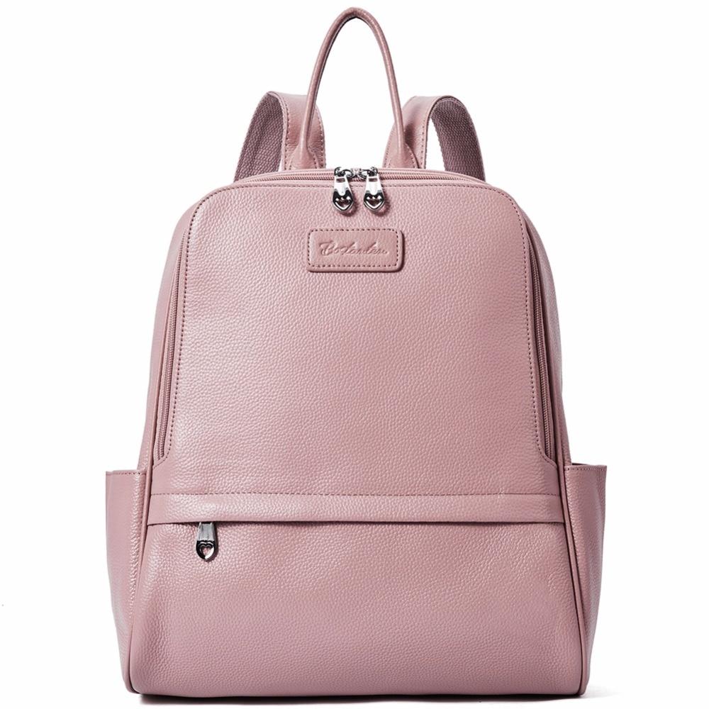 BOSTANTEN Backpack Women Female Genuine Leather Backpacks Purse Fashion Blue Black Pink School Bags for Women BackpacksBOSTANTEN Backpack Women Female Genuine Leather Backpacks Purse Fashion Blue Black Pink School Bags for Women Backpacks