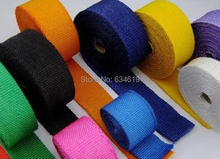 Color heat resistant automobile motorcycle exhaust fire prevention cloth fire prevention wrap