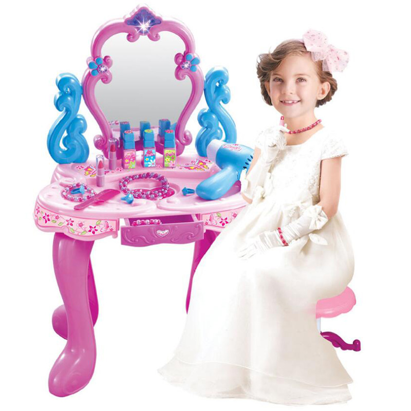 New simulation pretend play children s little princess educational toys girls dresser set gift toys