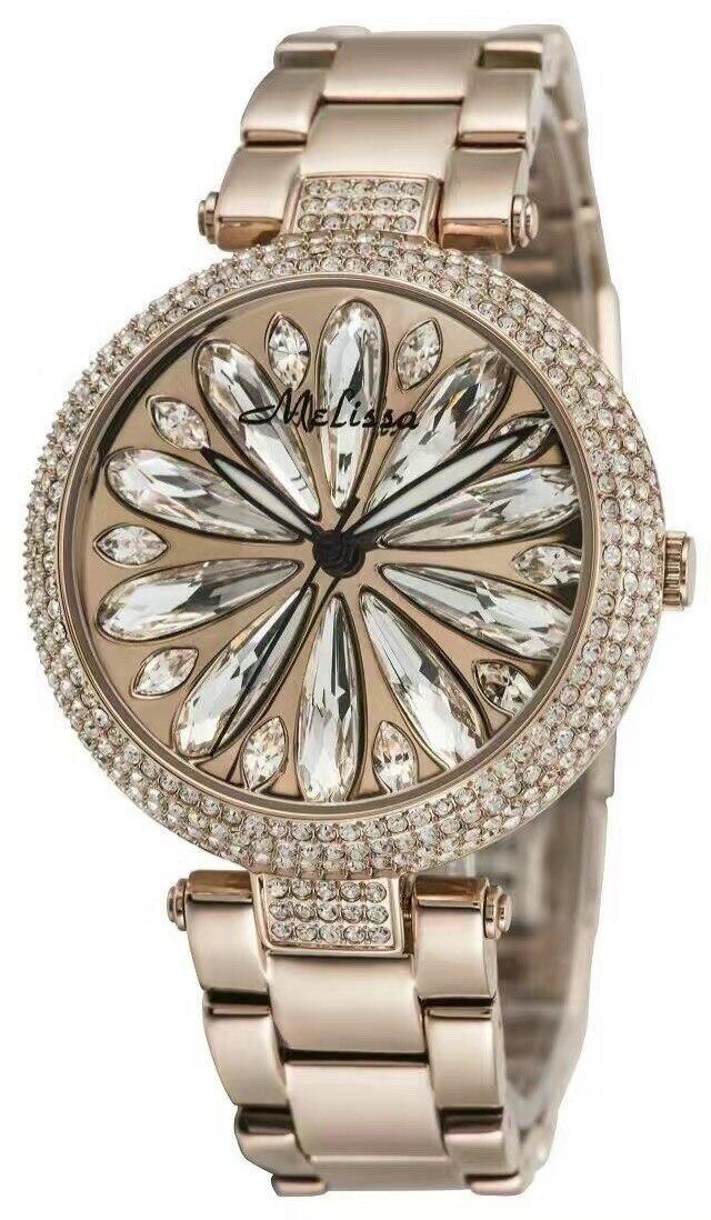 Blink кристалл Дейзи Часы Для женщин Новое поступление Melissa Сталь браслет наручные часы романтический цветочный relogios feminino Montre mp523s