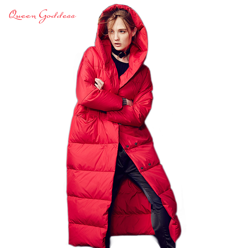 Female Down Jacket 2019 Jacket Fashionable Casual Thin White Duck Down Jacket XS-7XL