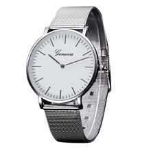 Наивысшее качество часы 1 шт. Для женщин браслет Кварцевые часы Для мужчин кристалл Нержавеющаясталь Anlog relogio feminino Для мужчин s часы