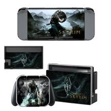 The Elder Scrolls 5 Skyrim Stickers Skin For Nintendo Switch Console – Controller – Dock