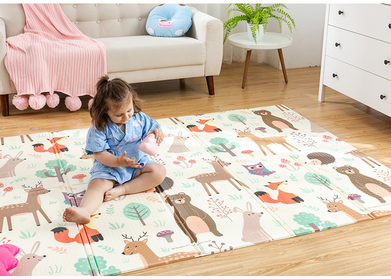 HTB1IIORcB1D3KVjSZFyq6zuFpXai Infant Shining Baby Play Mat Xpe Puzzle Children's Mat Thickened Tapete Infantil Baby Room Crawling Pad Folding Mat Baby Carpet