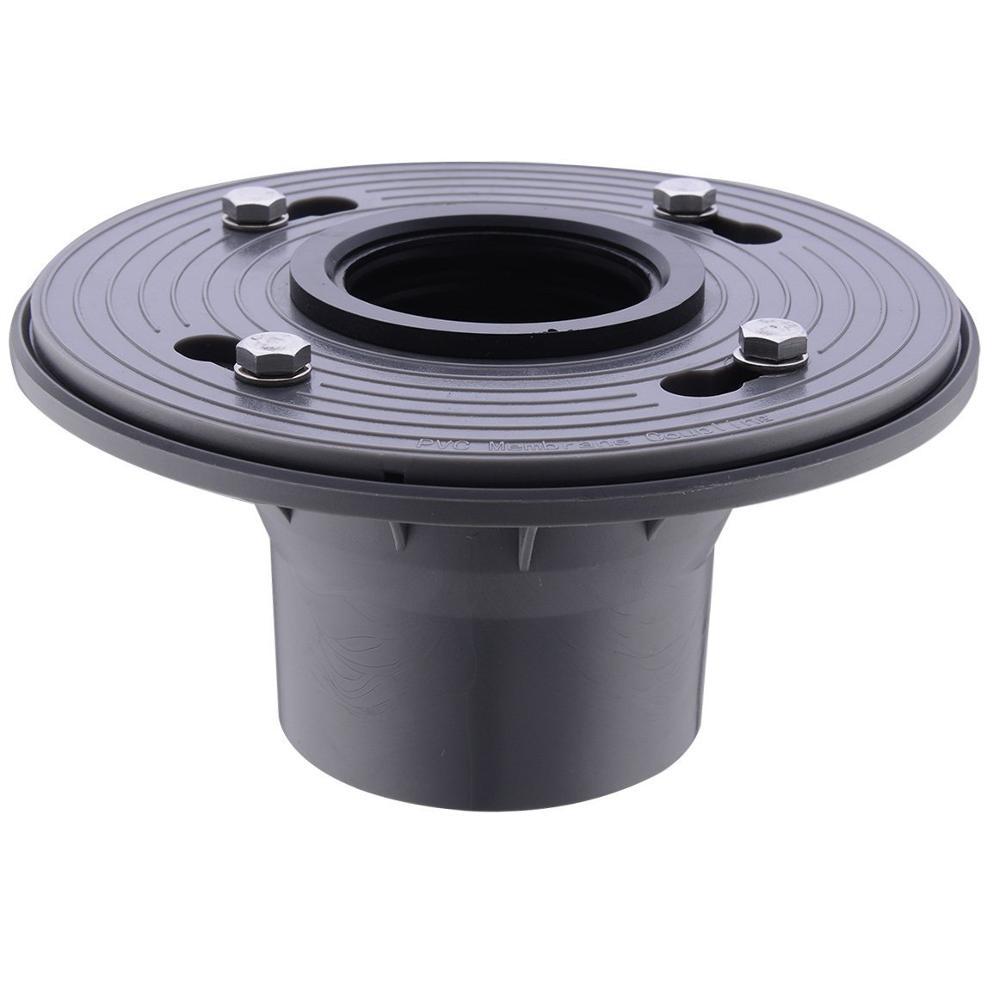 Quot pvc shower drain base with rubber gasket floor