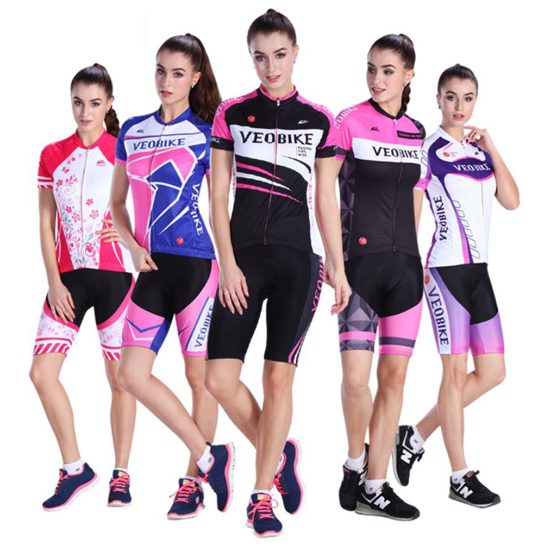 Hot Pro Team Cycling Short Set Woman Breathable Cycling Clothing Mtb Bike Clothes Women Bicycle Jersey Suit Girls Cycle Dress