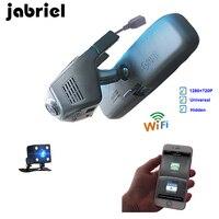 Jabriel ios/android Wifi Car Dvr automovil auto Dash Cam driving Video Recorder Registator Dual lens dvr car Rearview Camera