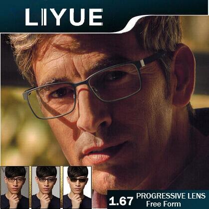 f00c25b232d LIYUE index 1.67 Freeform Transition Progressive lenses transparent clear Multifocal  lens photochromic bifocal lenses no line