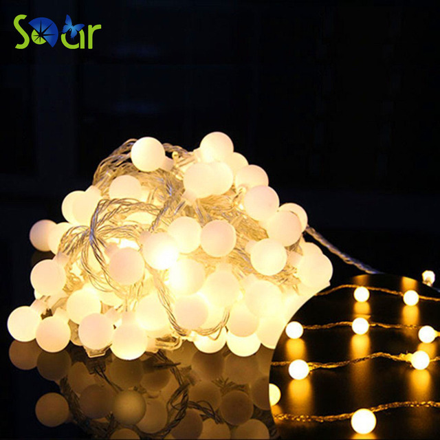 5m 40led warm white led battery christmas lights aa battery operated fairy ball party holiday garland