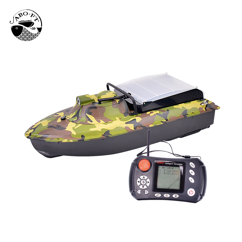 Free shipping JABO-2AG GPS bait boat with fish finder rc fishing boats free shipping factory price catamaran hull jabo 5a long distance two hoppers rc bait boat for releasing hook
