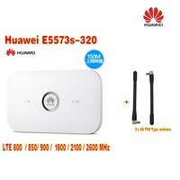 Huawei E5573s-320 Cộng Với 2 cái antenna LTE FDD800/850/900/1800/2100/2600 Mhz Cat4 150 mbps Wireless Di Động Mifi Router
