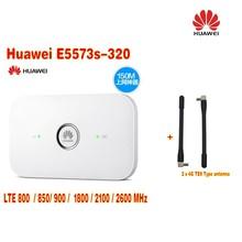Huawei E5573s-320 Plus 2pcs antenna LTE FDD800/850/900/1800/2100/2600Mhz Cat4 150mbps Wireless Mobile Mifi Router