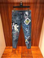 FA0218 модные для мужчин's джинсы для женщин 2019 взлетно посадочной полосы Элитный бренд Европейский дизайн вечерние стиль