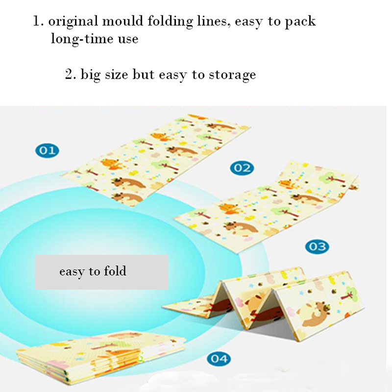 HTB1IIPpaErrK1RkSne1q6ArVVXaR Foldable Baby Play Mat Xpe Puzzle Mat Educational Children's Carpet in the Nursery Climbing Pad Kids Rug Activitys Games Toys