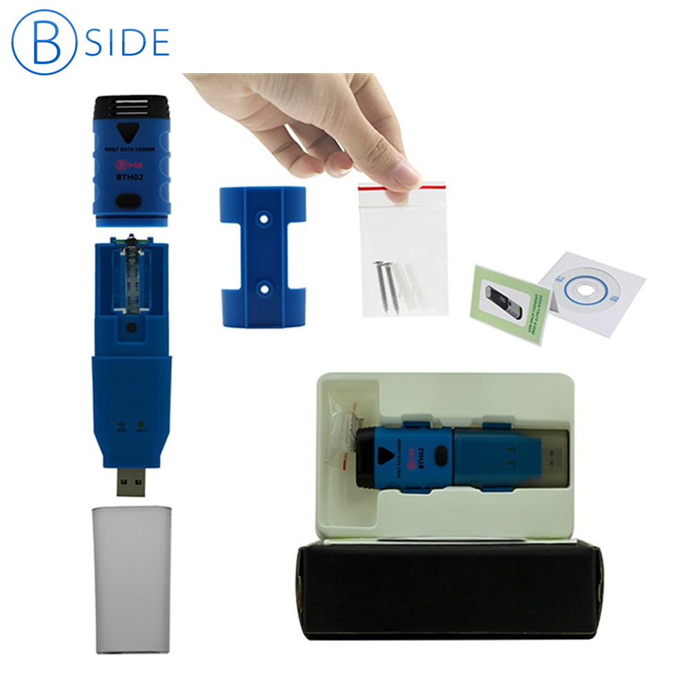 Bside BTH02 Waterproof Two Channel Temperature Humidity Dew Point Data Logger With USB Interface стоимость