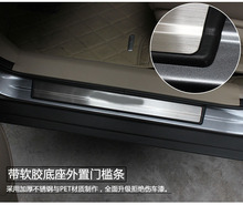 For 2014 2015 2016 Nissan X-Trail X Trail XTrail T32 Sport Style Stainless Scuff Plate Door Sill Welcome Pedal Car Accessories stainless steel inner door sill scuff plate for 2008 2012 2013 nissan x trail x trail welcome pedal threshold car accessories