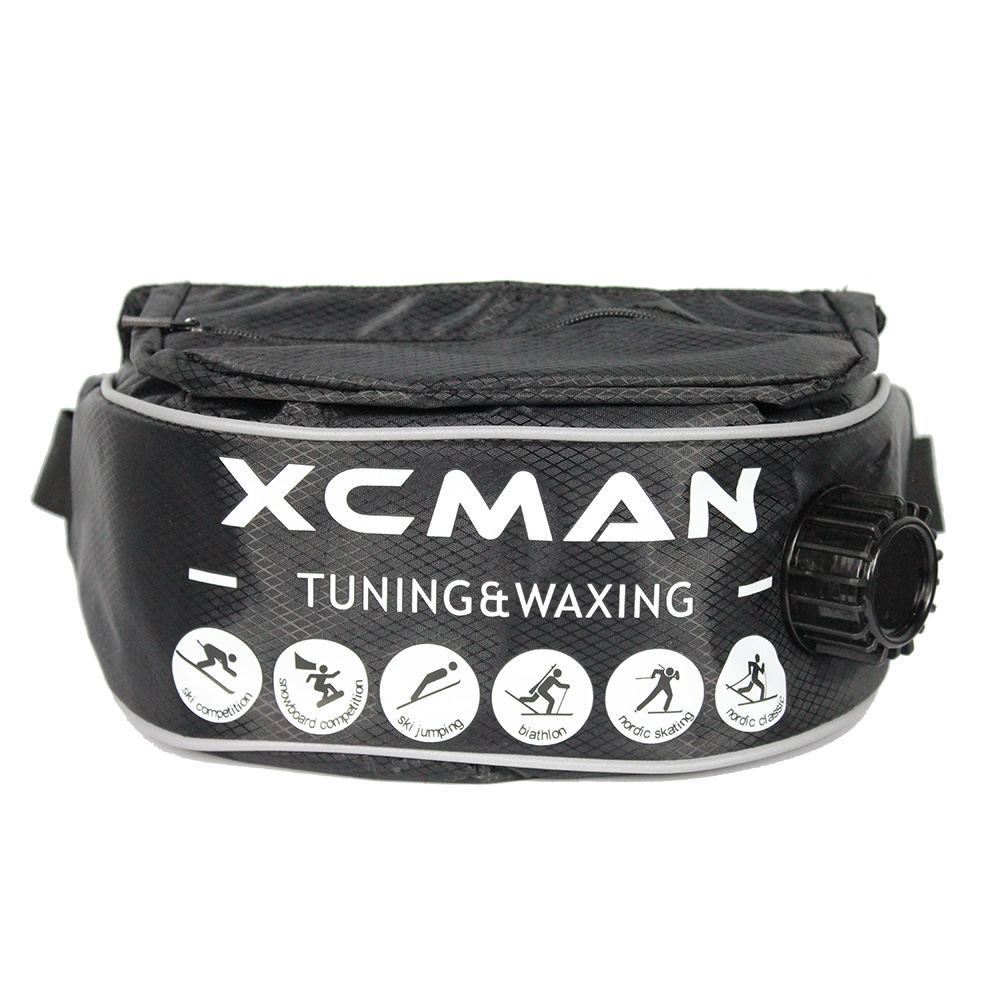 XCMAN XCMAN Insulated XC Drink Belt Bottle With Pocket For Boiling Liquids Heavy-Duty Thermo 1Liter
