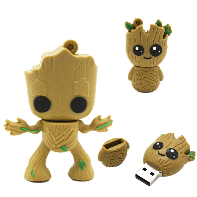 Cartoon Super Hero Tree Man Pen Drive Usb Flash Drive 4GB 8GB 16GB 32GB 64GB Pendrive Usb 2.0 Flash Memory Stick Creative Gift