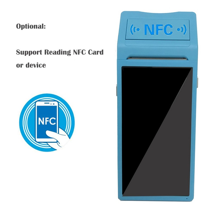 low cost handheld pos android pos terminal with printer NFC reader optional
