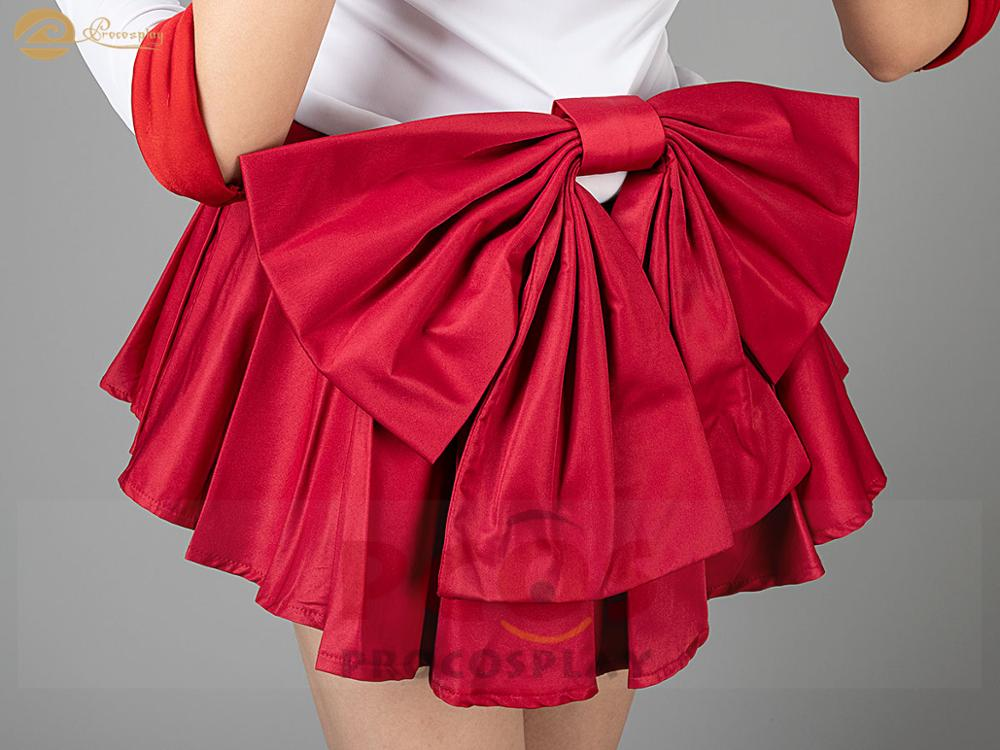 Best Price Set Sailor Moon Sailor Mars Hino Rei Cosplay Costume /& Shoes mp000570