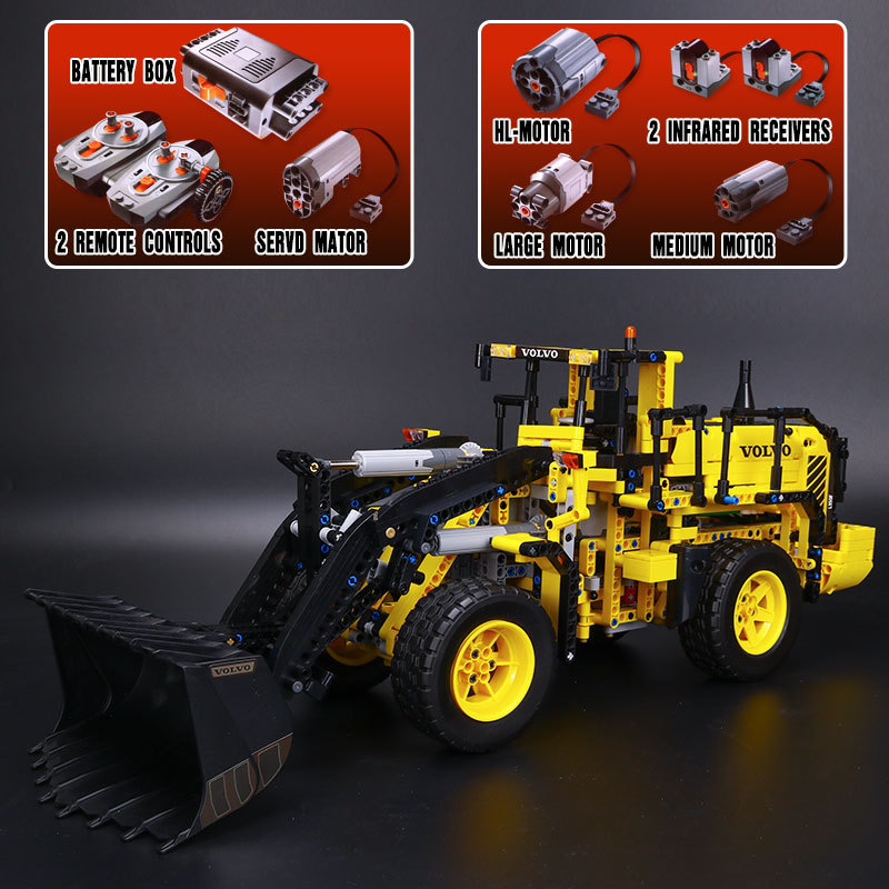 Lepin 20006 Technic Series 1636 pcs Volvo L350F Wheel Loader Car Model Building Kit Blocks Bricks Compatible 42030 Toy Kid Gifts new lepin 21003 series city car volkswagen beetle model building blocks compatible blue technic car toy 05007 educational gifts