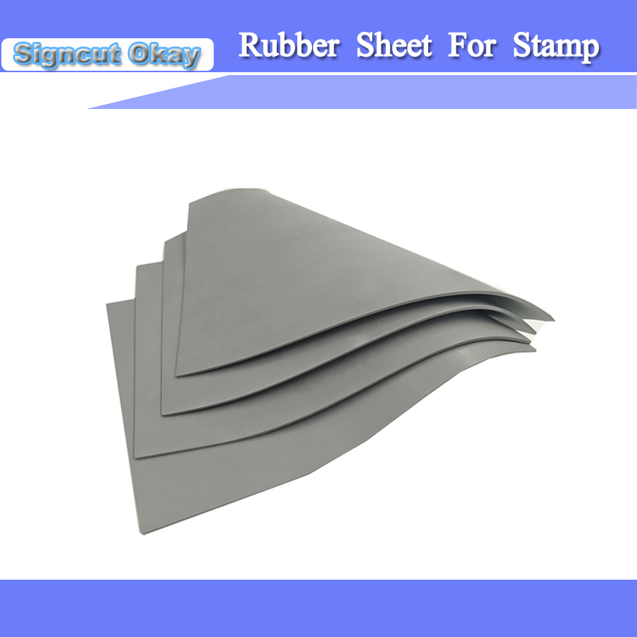 Free Shipping Rubber Sheet Laser Rubber Stamp 297*210*2.3 Mm With Co2 Laser Engraver Cutter Machine Laser Sheet